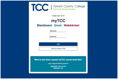 MyTCC Blackboard Sign In