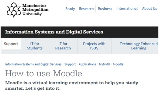 My MMU Moodle Login