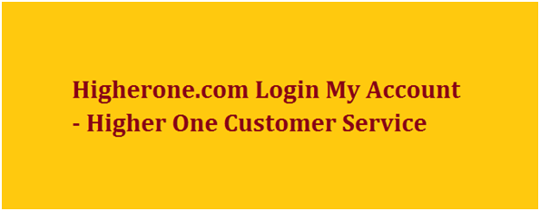 Higherone.com Login My Account