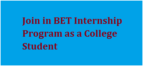Join in BET Internship Program